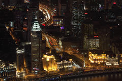 City of Shanghai at night, China Stock Images