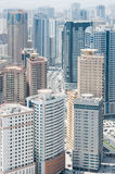 City of Sharjah, UAE. View of city of Sharjah from the roof, UAE Stock Photos