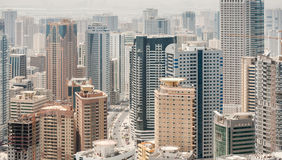 City of Sharjah, UAE. View of city of Sharjah from the roof, UAE Royalty Free Stock Image