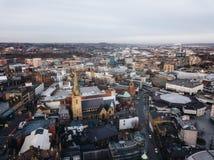 Sheffield City. City of Sheffield, United Kingdom from Royalty Free Stock Photos