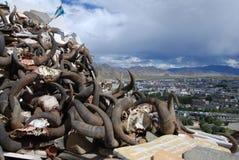 The city  of  Shigatse. The view of   Shigatse  city ,Tibet Stock Image