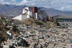 The city  of  Shigatse. The view of old town  in Shigatse,Tibet Stock Photos
