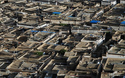 The city  of  Shigatse. The view of peoples houses in Shigatse,Tibet Royalty Free Stock Photo