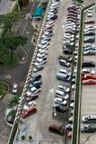 City shopping centre multi-level car park Stock Photo