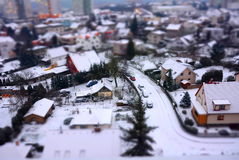 City shot with tilt shift effect Stock Photography
