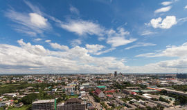 City shot from the top of  radio tower Stock Photography