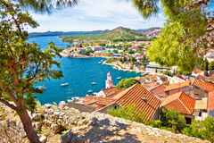 City of Sibenik coast view Stock Image