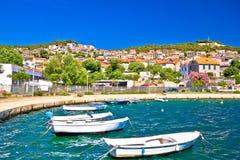 City of Sibenik colorful coast Royalty Free Stock Image
