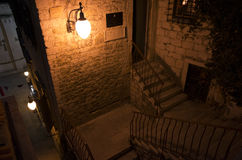 City of Sibenik Croatia Europe at night Stock Photography