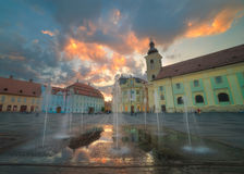 The City of Sibiu in Romania Royalty Free Stock Photos
