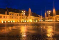 The City of Sibiu in Romania Stock Photo