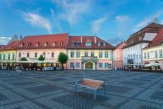 The City of Sibiu in Romania Stock Photos