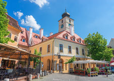 The City of Sibiu in Romania Stock Photography