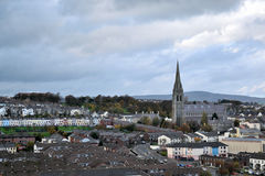City side of Derry, Northern Ireland. Stock Images