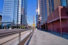 City Sidewalk_Landscape Royalty Free Stock Image
