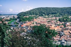 City of Sighisoara, european travel destination royalty free stock images