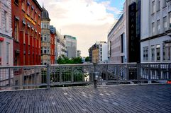 City sight in Aarhus  from bridge Royalty Free Stock Photography