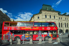 City Sightseeing bus on Red Square in Moscow Stock Image