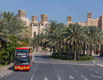 City SightSeeing tour bus in Dubai Royalty Free Stock Photography
