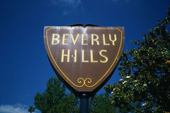 City sign for Beverny Hills, CA Stock Image
