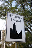 City sign of Brussels Royalty Free Stock Images