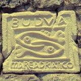 City sign of Budva, Montenegro Royalty Free Stock Photo