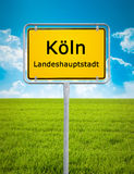City sign of Köln Stock Images