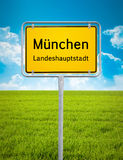 City sign of Munich Stock Images