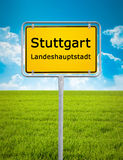 City sign of Stuttgart Stock Photo