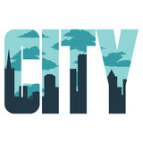 City sign Royalty Free Stock Images