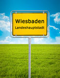 City sign of Wiesbaden Royalty Free Stock Images