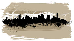 The city silhouette. Abstract style city silhouette vector Royalty Free Stock Image