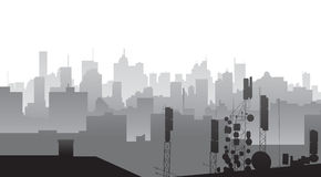City silhouette Stock Image