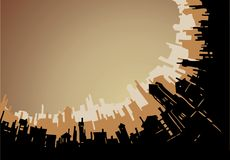 City silhouette. Abstract architectural silhouette background Stock Photos