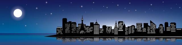 City silhouette.  Stock Photos
