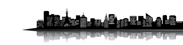 City silhouette royalty free illustration