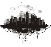 City silhouette background in vector Stock Photography