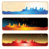 City silhouette banner royalty free illustration