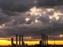 City silhouette at dusk. Kiev. Ukraine. Stock Image
