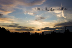 City silhouette Royalty Free Stock Photography
