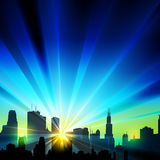 City silhouette Stock Photography
