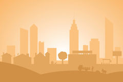 City Silhouette Royalty Free Stock Photo