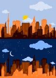 City Silhouette 1 Stock Photos