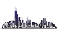 City silhouettes vector  illustration Royalty Free Stock Photos