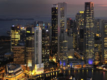 City of Singapore. Business and downtown district of the city of Singapore Stock Photo