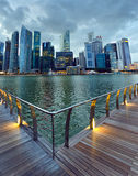 Singapore cityscape at evening time Royalty Free Stock Photography