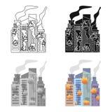 City, single icon in cartoon style.City, vector symbol stock illustration web. City, single icon in cartoon style.City, vector symbol stock illustration Stock Image