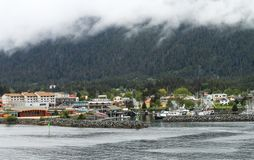 Sitka Alaska from the water royalty free stock photo