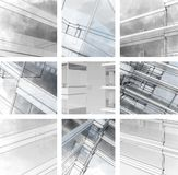 The city sketch. stock illustration