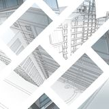The city sketch. Stock Photos